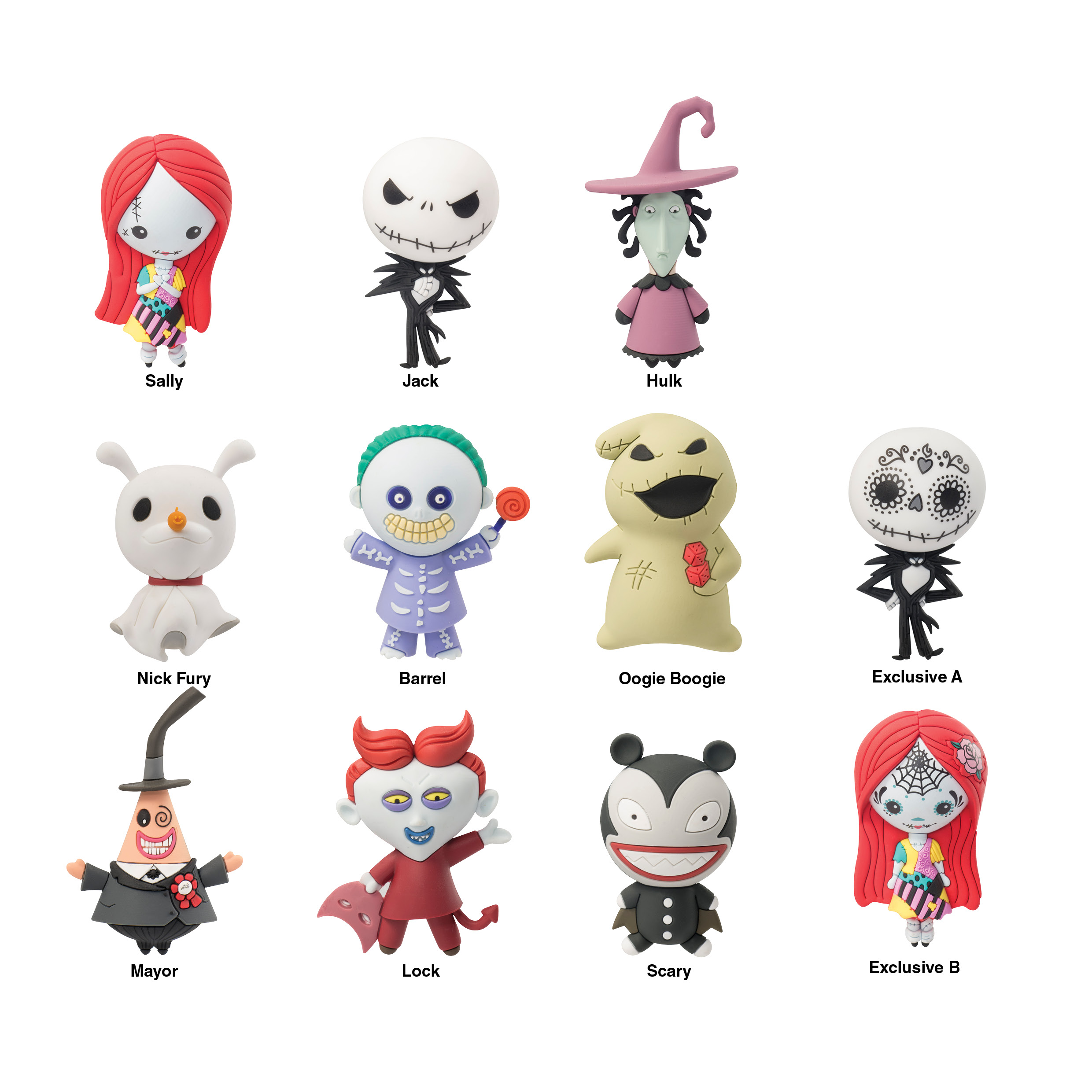 Nightmare Before Christmas - Disney Collection - 3D Foam Key Rings ...