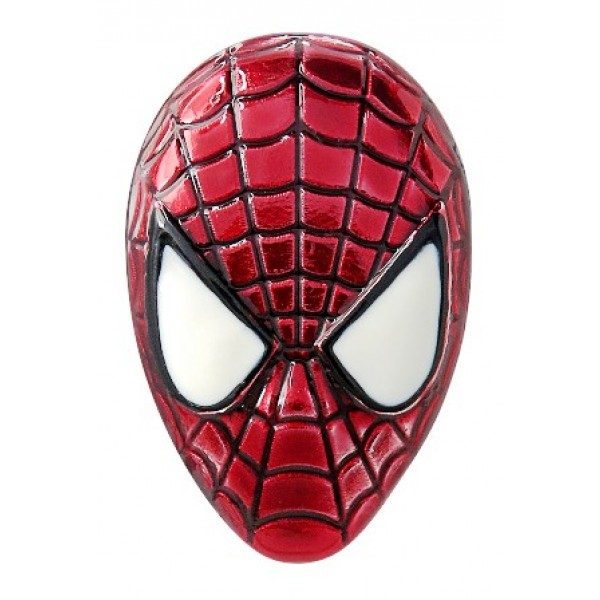 Spider-Man Head Colored Pewter Lapel Pin