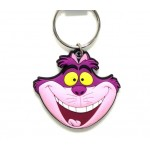 Cheshire Cat Head Soft Touch PVC Key Ring