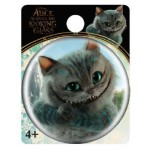 Cheshire Cat Head Smiling Single Button Pin