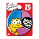 Marge Simpson Button Pin