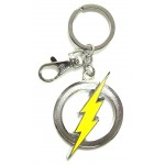 The Flash Color Logo Pewter Key Ring
