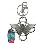 Wonder Woman NEW Logo w/ Lasso Pewter Key Ring - COMING SOON!