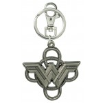 Wonder Woman NEW Logo w/ Lasso Pewter Key Ring