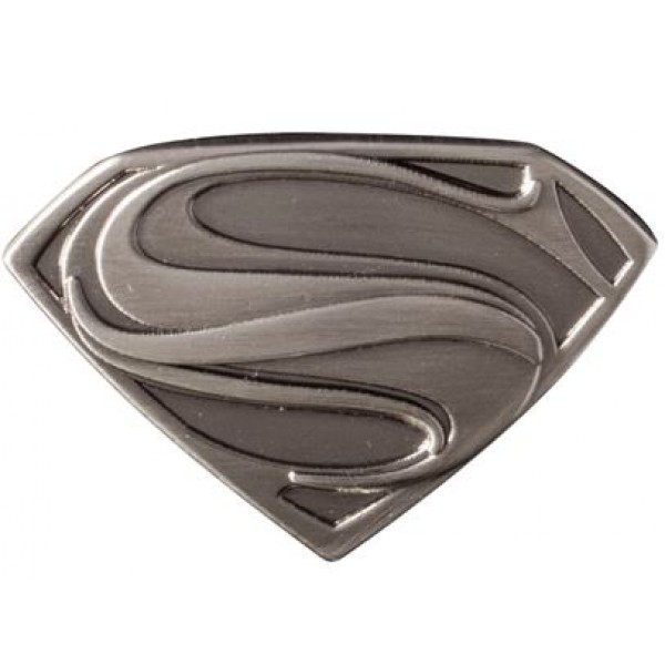 Beautiful Superman Man of Steel Logo Pewter Lapel Pin GU73
