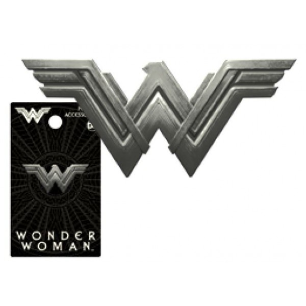Famous New Wonder Woman Logo Pewter Lapel Pin FR79
