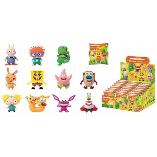 Nickelodeon Classics Series 3d Foam Key Rings