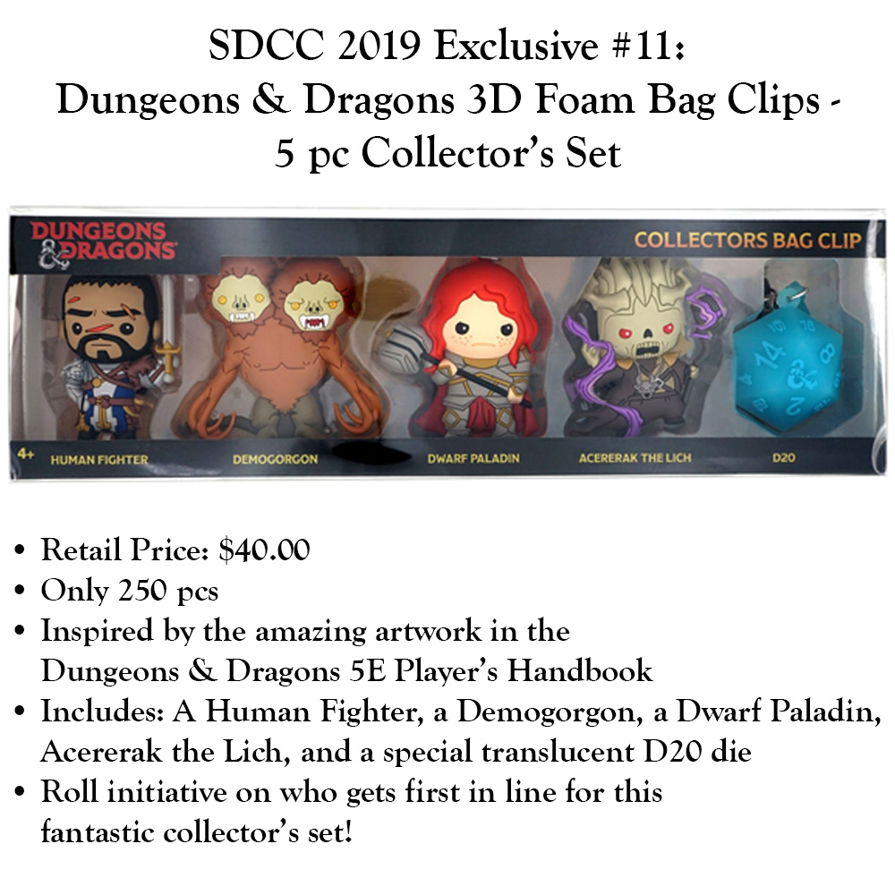 News - SDCC 2019 Exclusive #11 Dungeons & Dragons 3D Foam Bag Clips