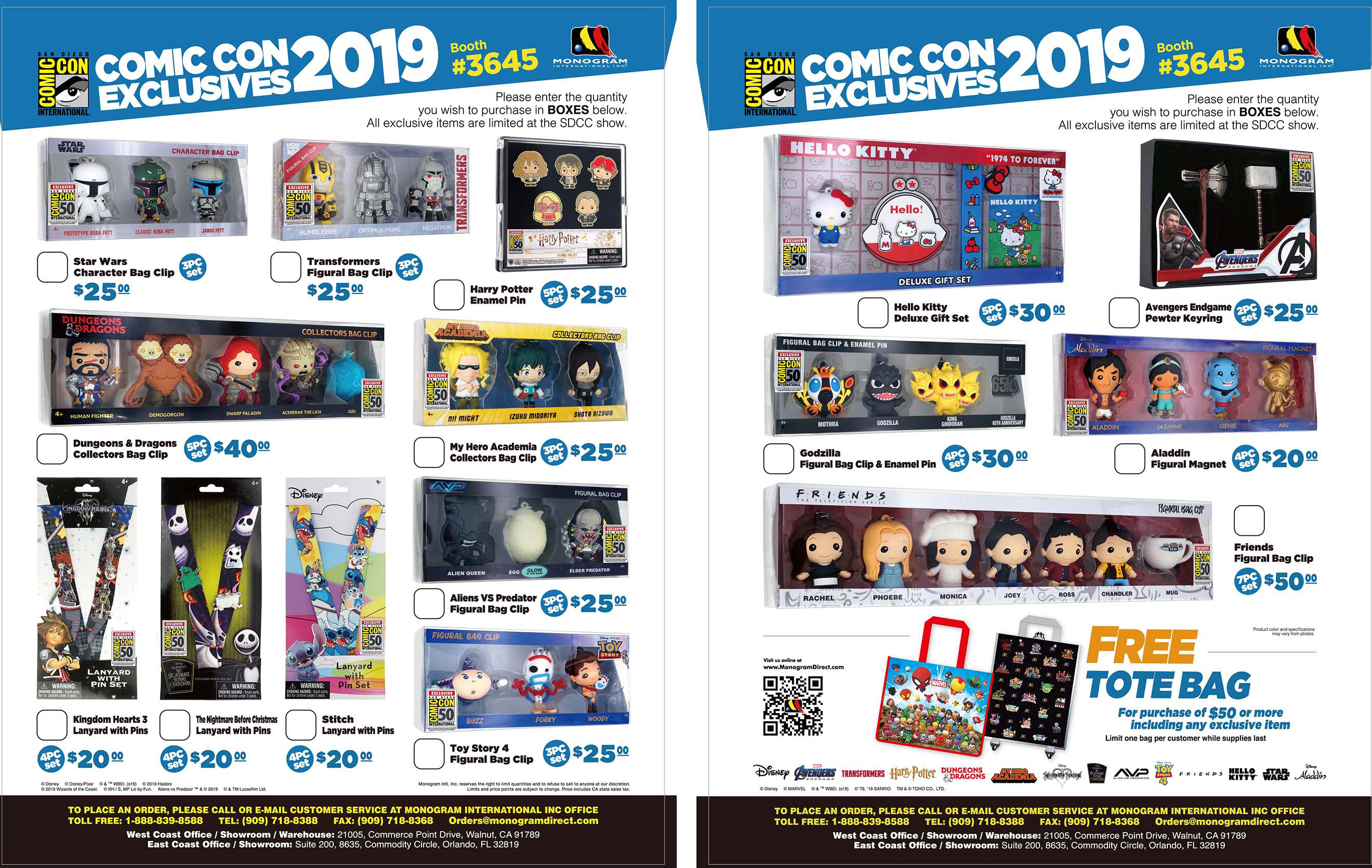 News - SDCC 2019 - Booth #3645 - An Early Look at our